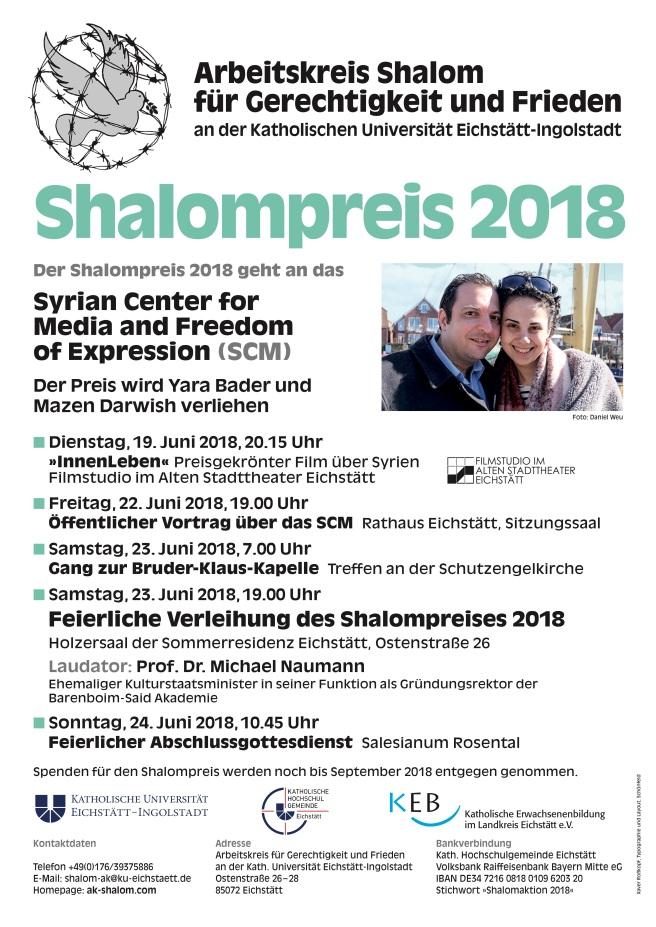 Shalompreis Woche 2018